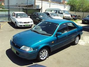 1999 Ford Laser KN GLXi Aqua Blue 4 Speed Automatic Sedan Punchbowl Canterbury Area Preview