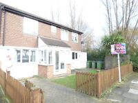 2 BEDROOM HOUSE OFFERED UNFURNISHED. SITUATED IN CENTRAL THAMESMEAD. WORKING TENANTS ONLY.