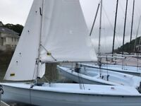 RS Vision large sailing dinghy 15 ft - roomy, stable & fast. Nearly new main, genoa & spinnaker