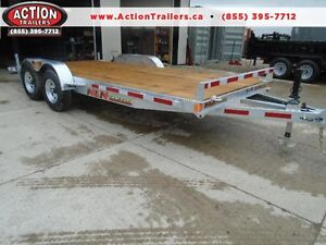 GALVANIZED 5 TON EQUIPMENT TRAILER -7' X 18' - LOW PRICE NO RUST