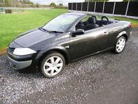 2007 RENAULT MEGANE 1.6 VVT Coupe CONVERTIBLE Dynamique BLACK SPORTS