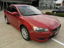 2010 Mitsubishi Lancer CJ MY10 Activ Red 6 Speed Constant Variable Sedan Yamanto Ipswich City Preview