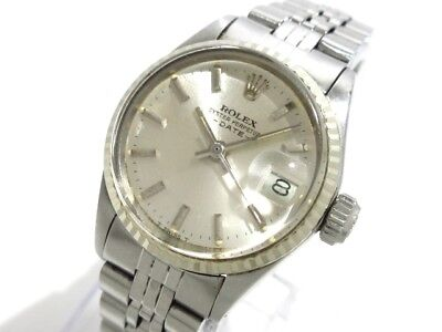 Auth ROLEX Oyster Perpetual Date 6517 Silver, gold 2691040 Women