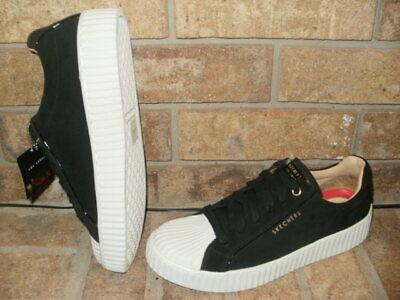 NEW SKECHERS STREET BLACK LEATHER MILA WAVEY WALKERS/ SHOE/LADY 9/73681 MSRP $65 - Street Walker Shoes