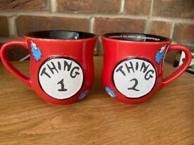 Two Dr.Seuss 'Thing' Mugs