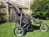 Out n About Nipper 360 V1 Double Pushchair / Buggy Raven Black
