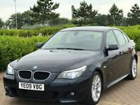BMW 5 SERIES 2.0 520D M SPORT 4d AUTO 175 BHP (black) 2009