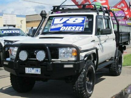 2015 Toyota Landcruiser VDJ79R Workmate Double Cab White 5 Speed Manual Cab Chassis Altona North Hobsons Bay Area Preview