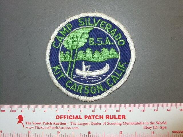 Boy Scout Camp Silverado patch CA 9928Y