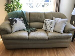 Beige Leather Sofa/Love seat/Chair Moving Sale!