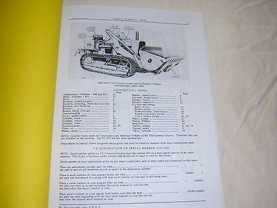 John Deere 1010 Crawler Loader Parts Catalog Manual