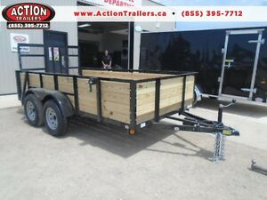 HIGH SIDED TANDEM AXLE UTILITY LANDSCAPE TRAILER - 6X12 BED