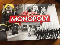 Brand New Unopened Special London Fire Brigade Monopoly