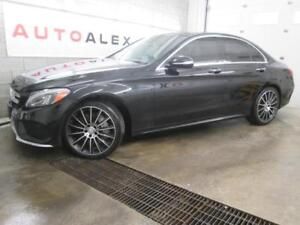 2015 Mercedes C400 NAVI CUIR ROUGE TOIT PANOR. MAGS 19 4MATIC