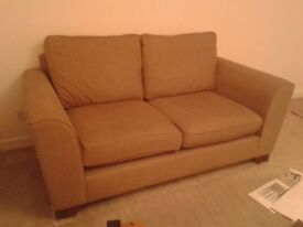 Marks and Spencer's Oatmeal/brown 2 seater second hand sofa