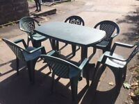 Plastic Garden Furniture -Tables and Chairs-Perfect for events.Ok to sell in smaller or larger group