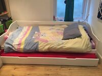 2 x Trundle Beds with Memory Foam Mattresses