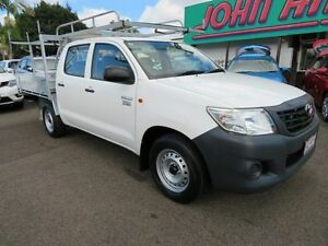 2013 Toyota Hilux TGN16R MY12 Workmate White 5 Speed Manual Dual Cab Pick-up Mount Gravatt Brisbane South East Preview