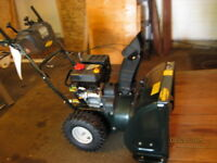 2stage  snow blower electric or manual start,