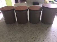 Genuine Denby Set of 4 Storage Jars
