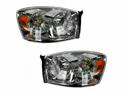 For 2006-2009 Dodge Ram 3500 Headlight Assembly Set 28798FR 2008 2007