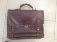 leather briefcase (Gianni Conti) made in Italy