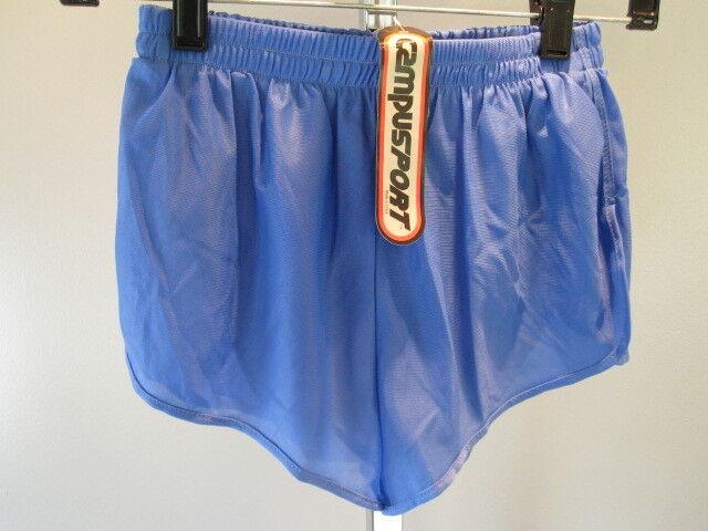 Nos Vintage Campus Blue 70s 80s Boys Swim Suit BottomTrunks Sport Shorts Youth S