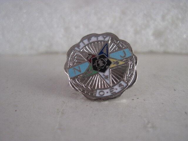 OES 50 yr NJ near mint pin     (1x1 160 )