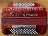 S/Hand Paolo Soprani 3 Row Accordion