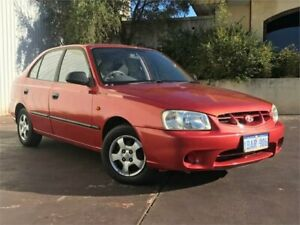2001 Hyundai Accent LC GL Red 4 Speed Automatic Sedan East Victoria Park Victoria Park Area Preview