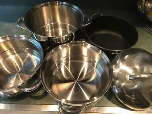 Large pots and steamers