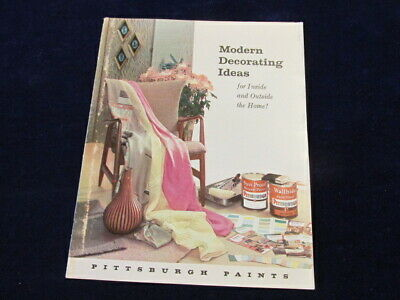 Vtg 1960s Pittsburgh Paint Home Modern Decorating Ideas Inside + Outside  M12](1960s Decorating Ideas)