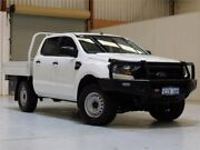2016 Ford Ranger PX MkII XL Double Cab White 6 Speed Sports Automatic Cab Chassis Bibra Lake Cockburn Area Preview