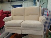 Pale Yellow Sofa & Armchair