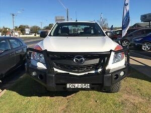 2014 Mazda BT-50 MY13 XT (4x4) White 6 Speed Manual Cab Chassis Young Young Area Preview