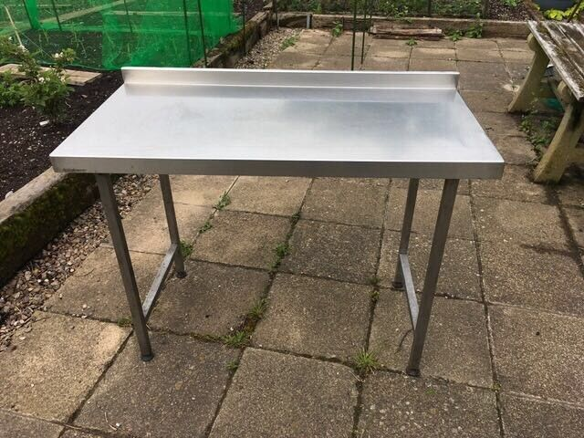 X FOOD GRADE STAINLESS STEEL TABLE WITH UPSTAND In Bromsgrove - Food grade stainless steel table