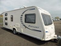BAILEY PAGENT BRETAGNE SERIES 7 6 BERTH SINGLE AXLE CARAVAN 2010 + BRADCOT AWNING AND EXTRAS