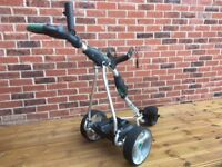 Stowamatic GXT electric golf trolley + Nike cart Bag
