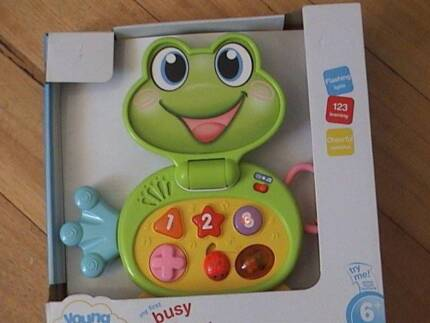 Young Ones First Busy Frog Laptop Toy