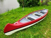 Brand New Flat Back 3 seater Indian Canoe Made in EU, 2 year warranty Kayak Boat
