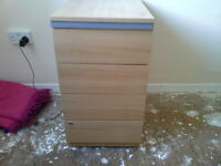wooden filing cabinets x 4