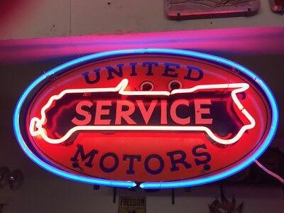 Original United Motors Window Display Neon