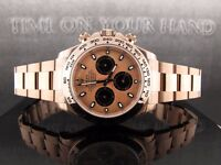 ROLEX DAYTONA PERPETUAL COSMOGRAPH 18K ROSE GOLD CHAMPAGNE DIAL EVEROSE