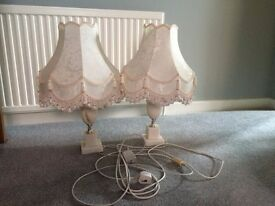 "2 pairs of Table lamps 24"" Height Onyx Base / 27"" Height standard base £20 ono per pair"