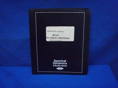 Spectral Dynamics Sd360 Instruction Manual