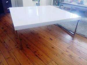 NICK SCALI - HIGH GLOSS WHITE SQUARE COFFEE TABLE North Bondi Eastern Suburbs Preview