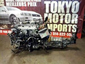 JDM TOYOTA 1JZGTTE TWIN TURBO ENGINE WITH MT R154 TRANSMISSION HARNESS ECU