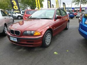 1999 BMW 318i E46 318i Red 4 Speed Automatic Sedan Invermay Launceston Area Preview