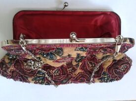 Vintage style beaded evening bag