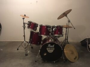 PRICE REDUCED - pearl export series drum kit for sale